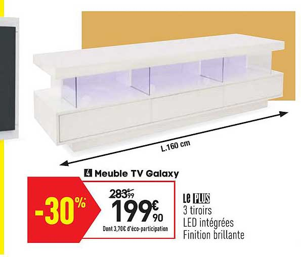 offre meuble tv galaxy chez conforama