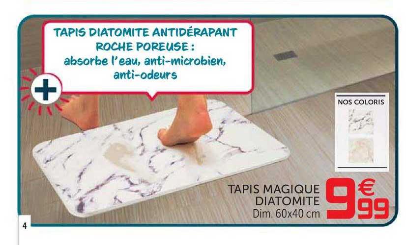 offre tapis magique diatomite chez gifi