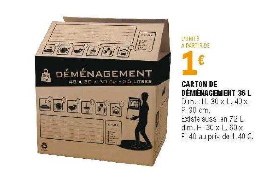 Offre Carton De Demenagement 36 L Chez Eleclerc Brico