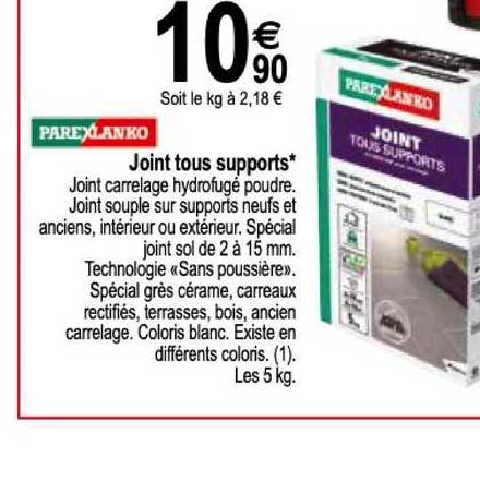 Offre Joint Tous Supports Parexlanko Chez Tridome