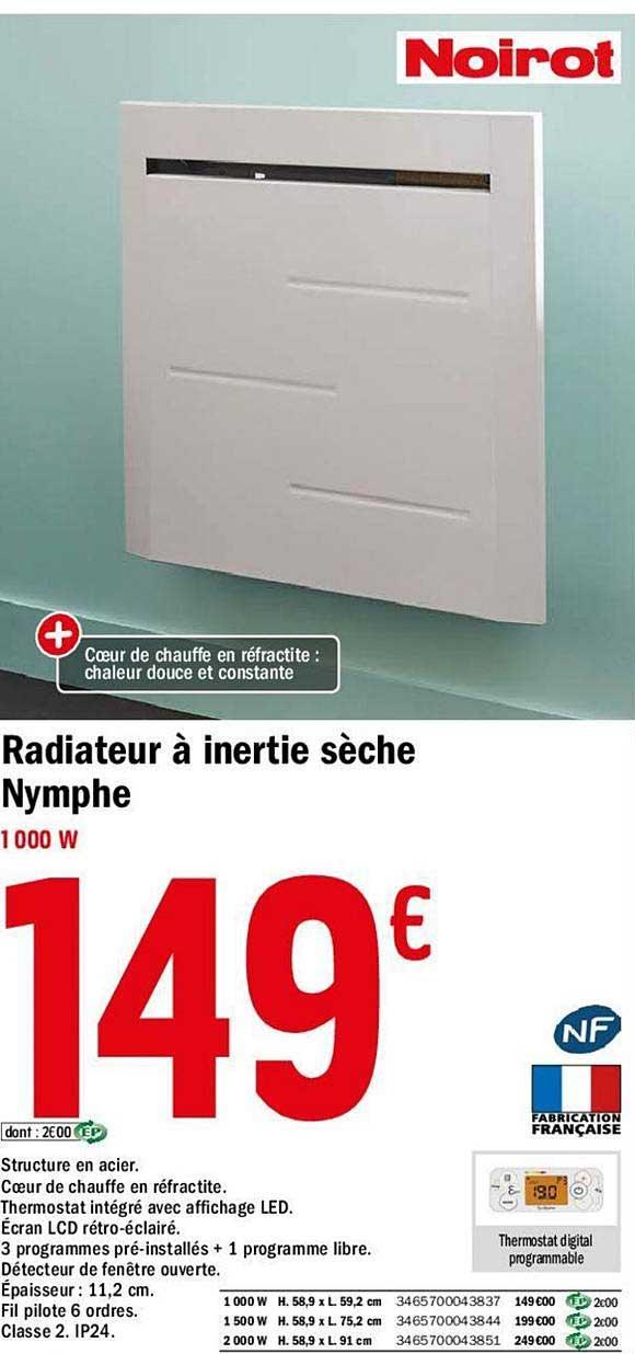 Offre Radiateur A Inertie Seche Nymphe Chez Brico Depot