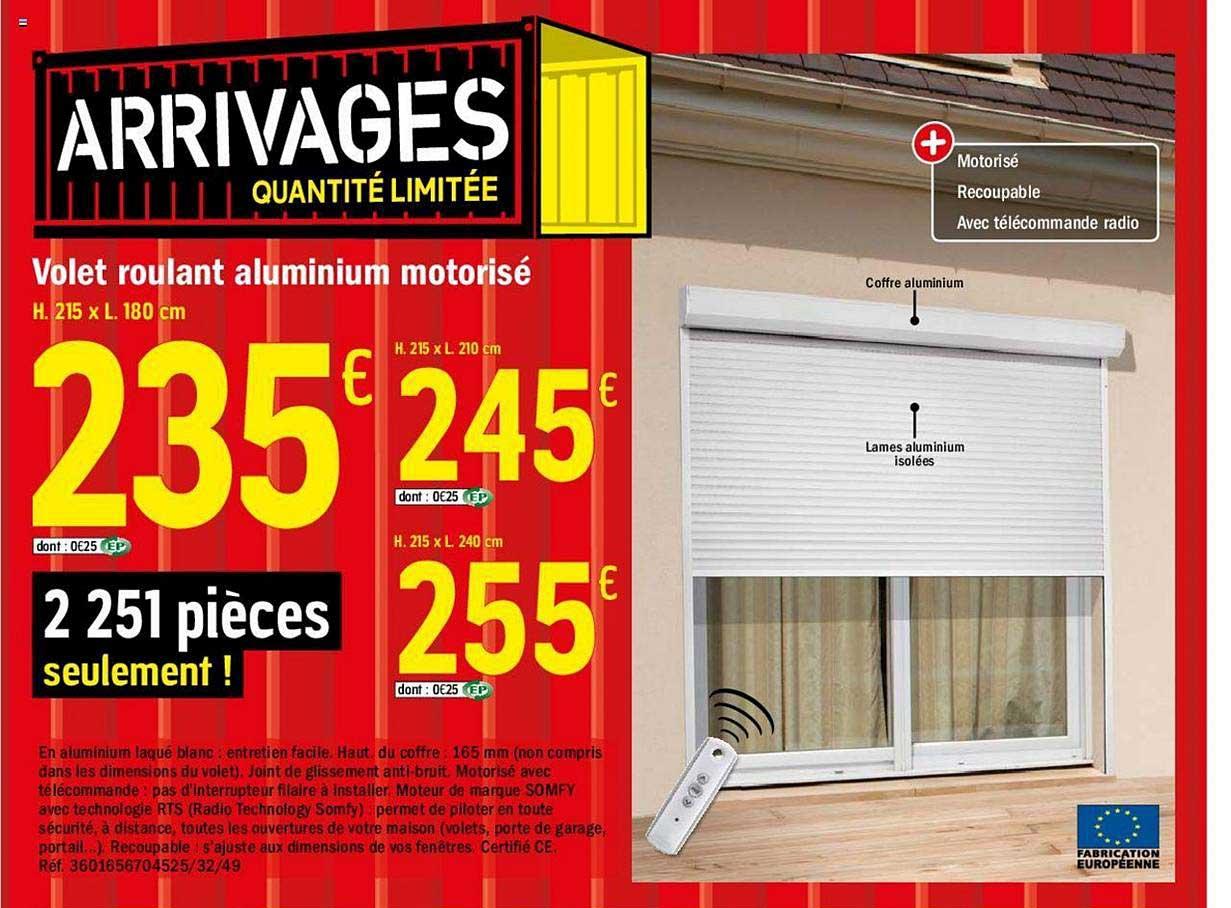 Offre Volet Roulant Pvc Manuel Chez Brico Depot