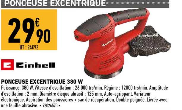 Offre Ponceuse Excentrique 380 W Einhell Chez Brico Cash