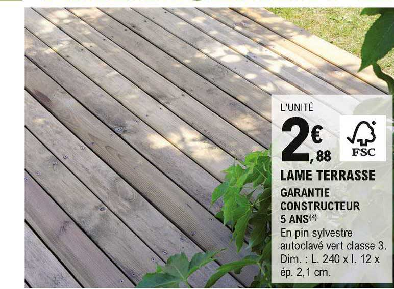 Offre Lame Terrasse Chez Eleclerc Brico
