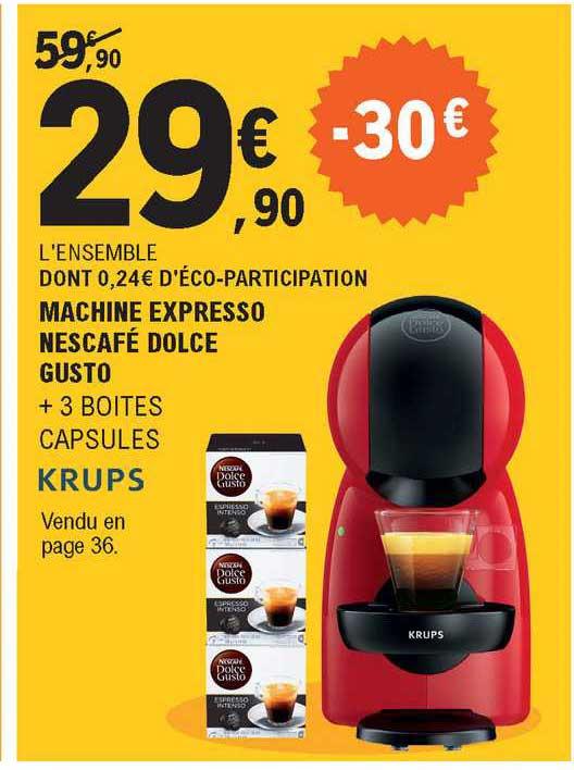 Offre Machine Expresso Nescafe Dolce Gusto Chez E Leclerc