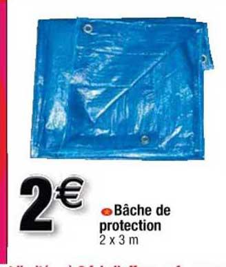 Offre Bache De Protection Bleue Verte 80 G M2 Chez Brico Cash
