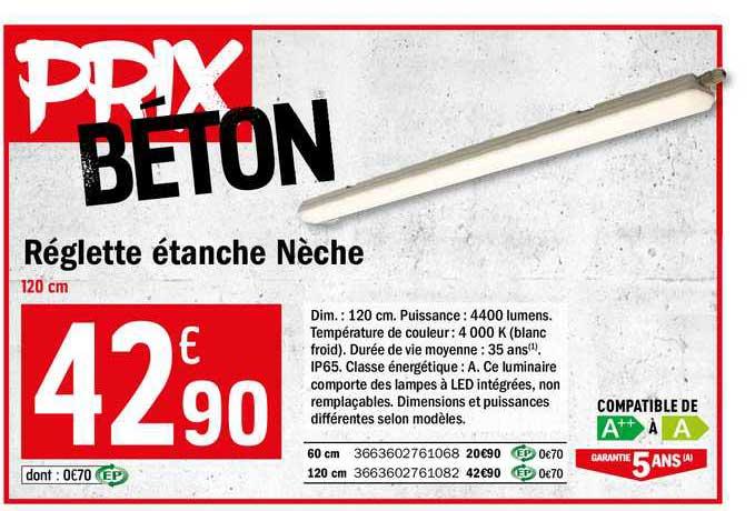 Offre Reglette Etanche Neche Chez Brico Depot