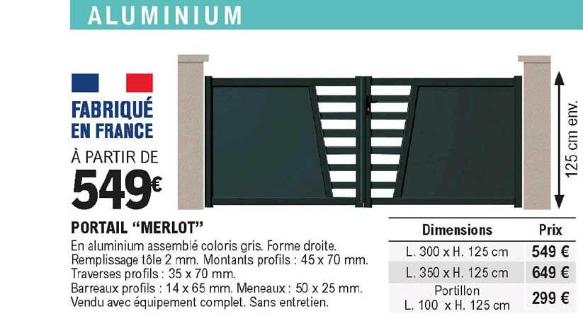 Offre Portail Merlot Chez Eleclerc Brico
