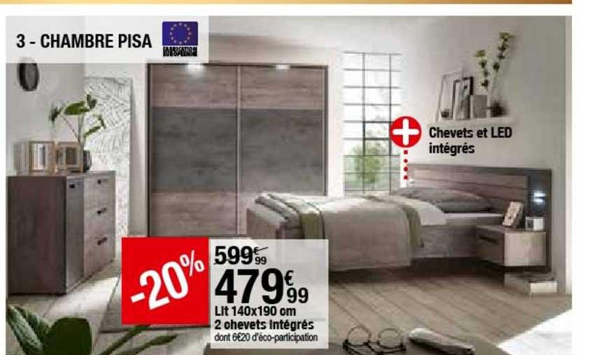 offre chambre pisa lit 140x190 cm 2