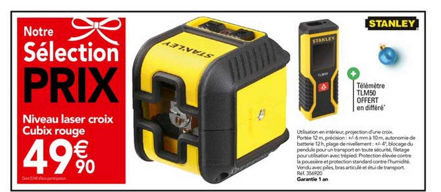 Offre Niveau Laser Auto Ajustable 15 M Chez Brico Depot