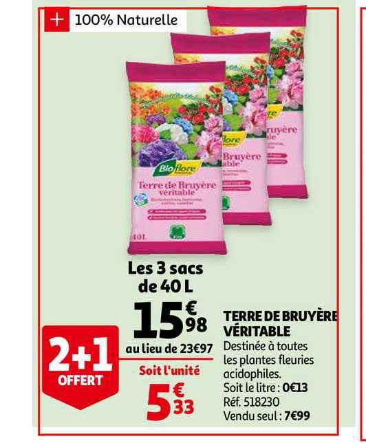 Offre Terre De Bruyere Veritable Chez Auchan
