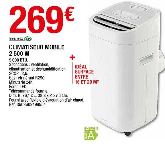 Offre Climatiseur Mobile 2500 W Chez Brico Depot
