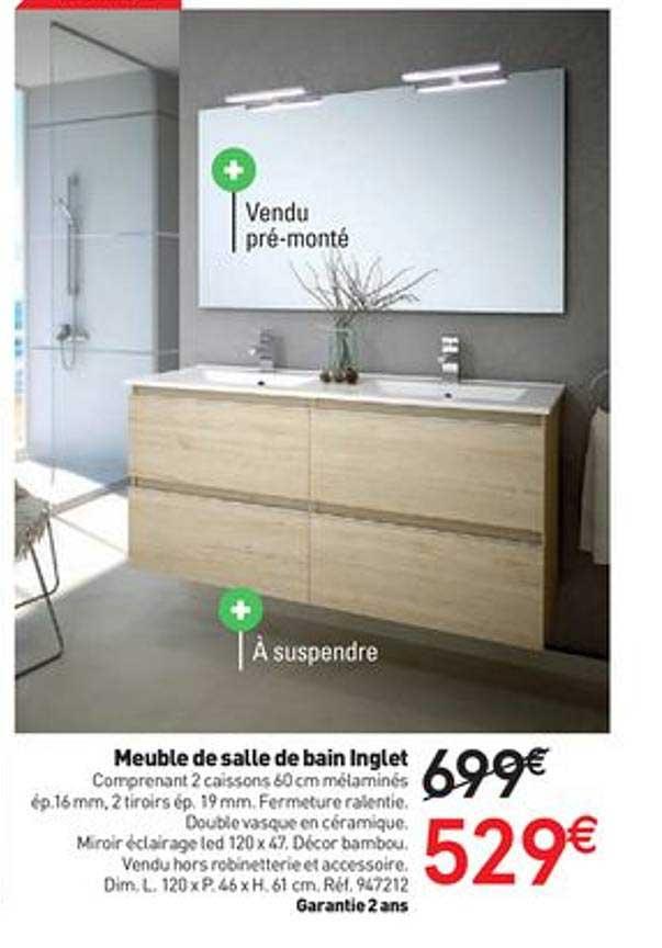 Offre Meuble De Salle De Bain Inglet Chez Mr Bricolage