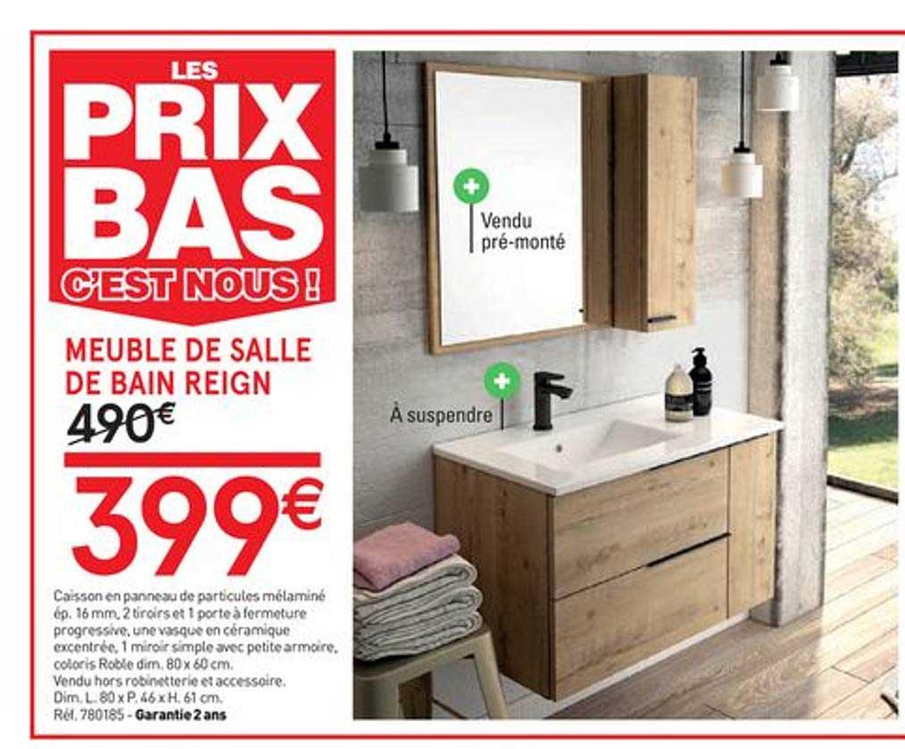 Offre Meuble De Salle De Bain Reign Chez Mr Bricolage