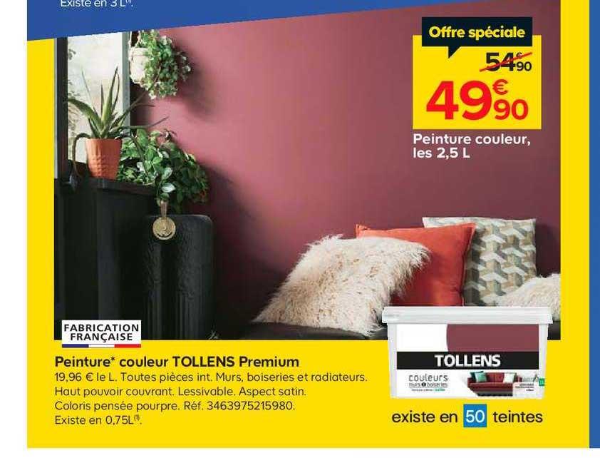 Offre Peinture Couleur Tollens Premium Chez Castorama