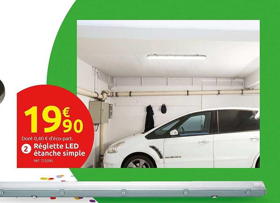 Offre Reglette Etanche Led Integree 120 Cm Chez Brico Depot