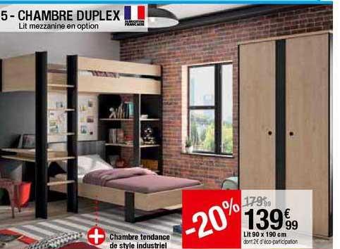 offre chambre duplex lit mezzanine en