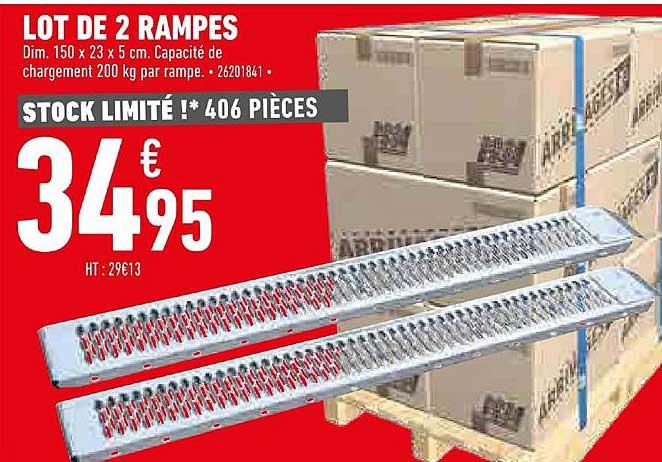 Offre Lot De 2 Rampes De Montee Pour Remorque Chez Brico Depot