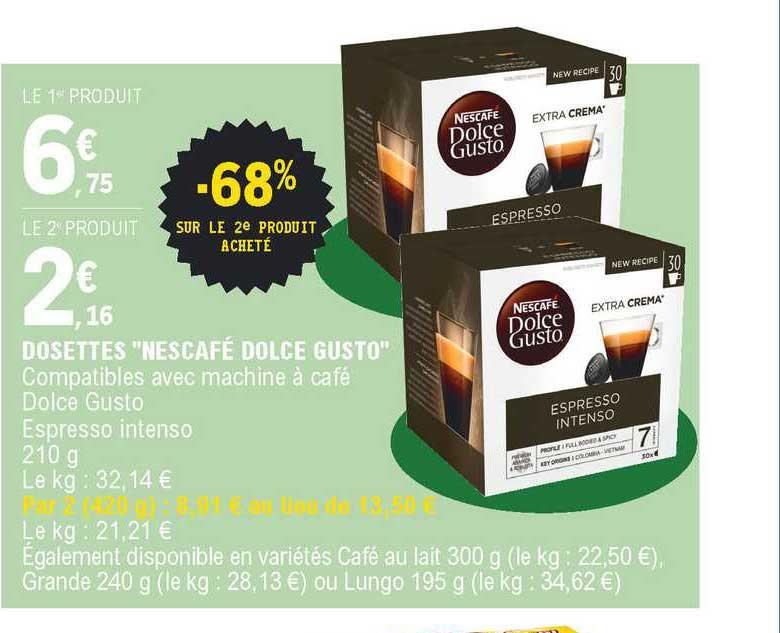 Offre Dosettes Nescafe Dolce Gusto Chez E Leclerc