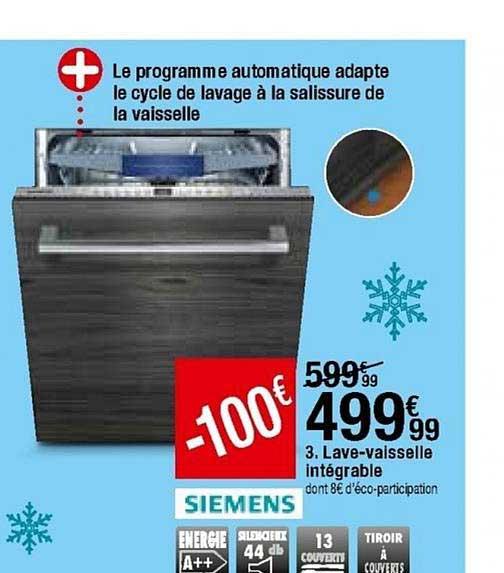 offre lave vaisselle integrable siemens