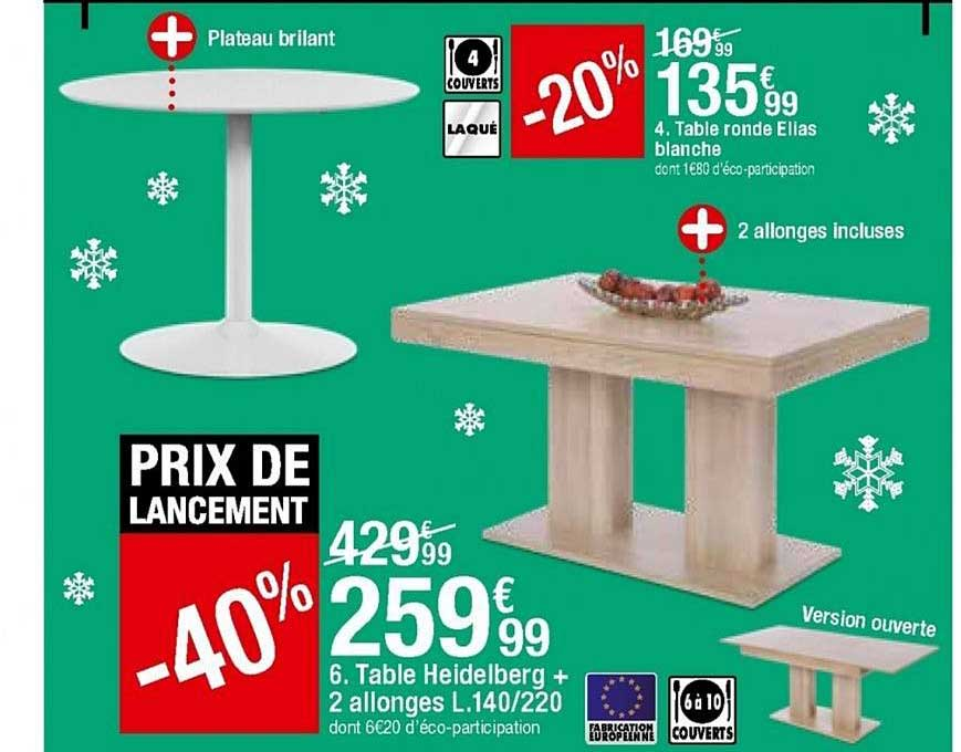 https www icatalogue fr i but table ronde ellas blanche table heidelberg 2 allonges 259738
