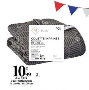 Offre Couette Imprimee Chez Carrefour