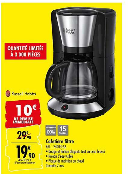 Offre Cafetiere Filtre Russell Hobbs Chez Carrefour