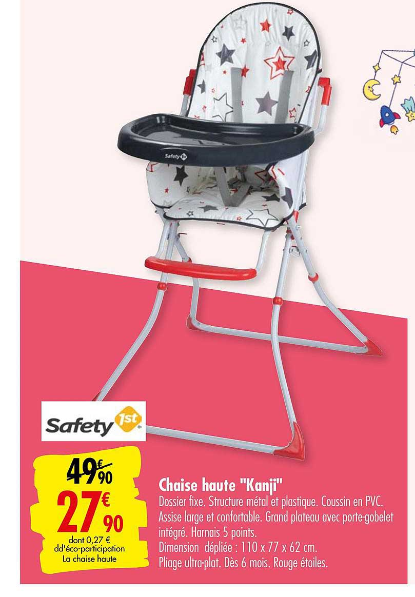 offre chaise haute kanji safety 1st