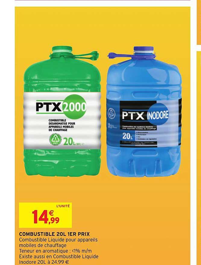 Offre Combustible 20l 1er Prix Ptx Chez Intermarche Hyper