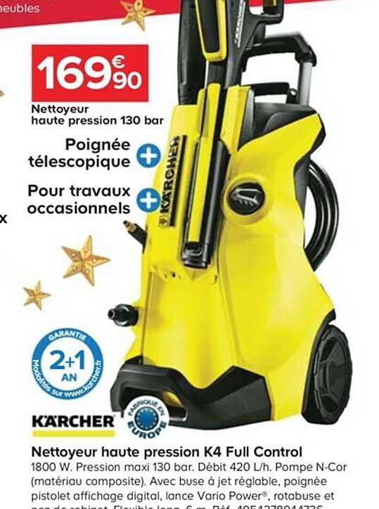 Offre Nettoyeur Haute Pression K4 Full Control Karcher Chez Castorama