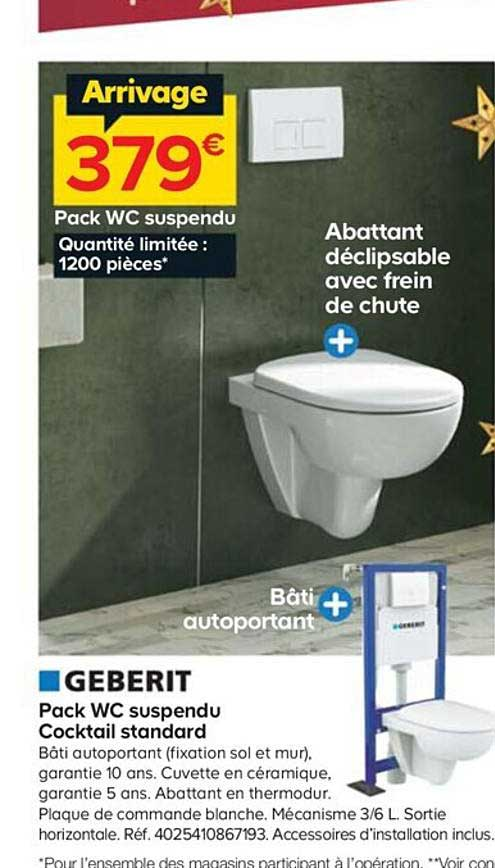 offre pack wc suspendu cocktail