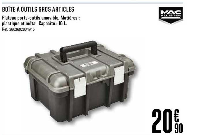 Offre Boite A Outils Gros Articles Mac Allister Chez Brico Depot