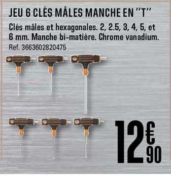 Offre Jeu 6 Cles Males Manche En T Chez Brico Depot