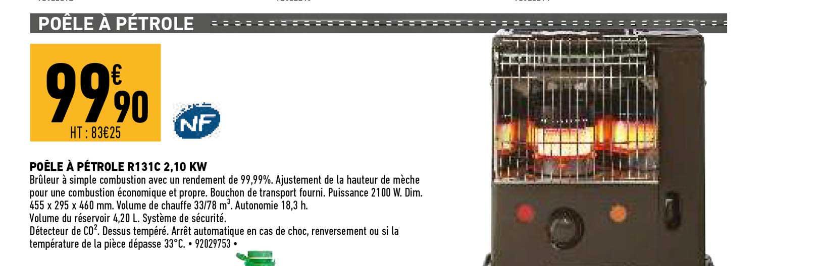 Offre Combustible Pour Poele A Petrole Chez Eleclerc Brico