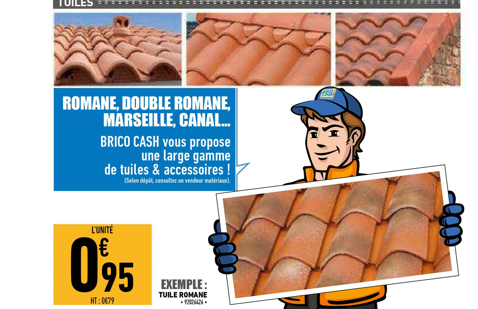Offre Tuile Romane Chez Brico Cash