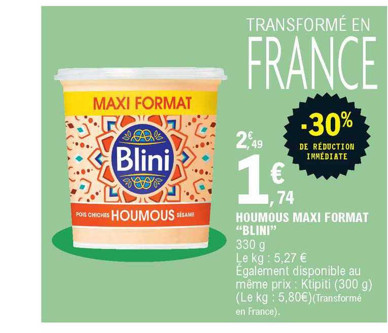 offre houmous maxi format blini 30 de