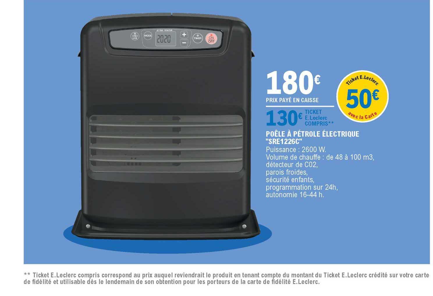 Les Offres A Petrole Electrique Sre1226c Dans Les Catalogues