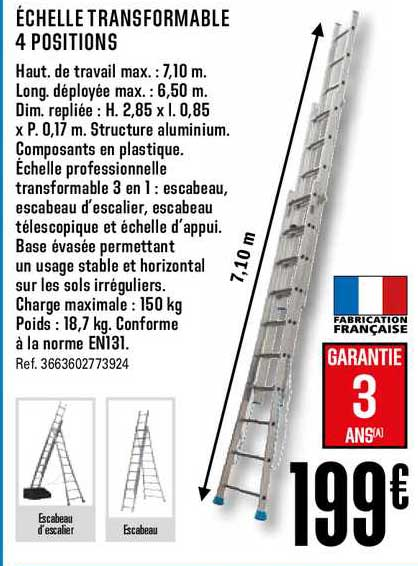 Offre Echelle Transformable 4 Positions Chez Brico Depot