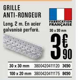 Offre Grille Anti Rongeur Chez Brico Depot