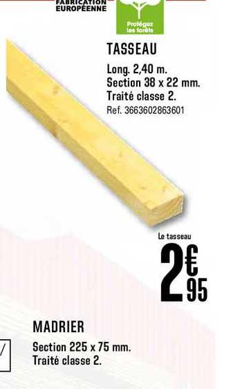 Offre Tasseau Madrier Chez Brico Depot