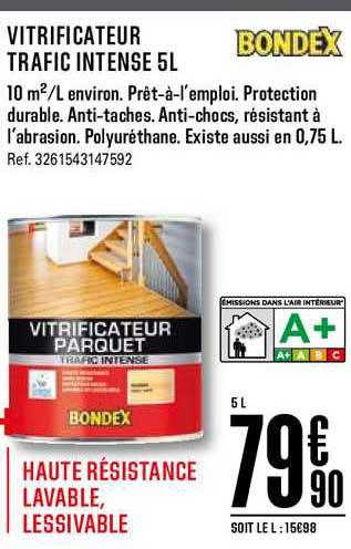 Offre Vitrificateur Trafic Intense 5l Bondex Chez Brico Depot