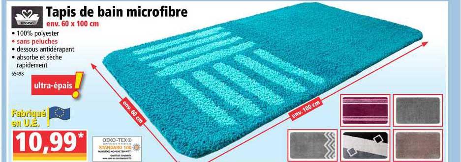 offre tapis de bain microfibre chez norma