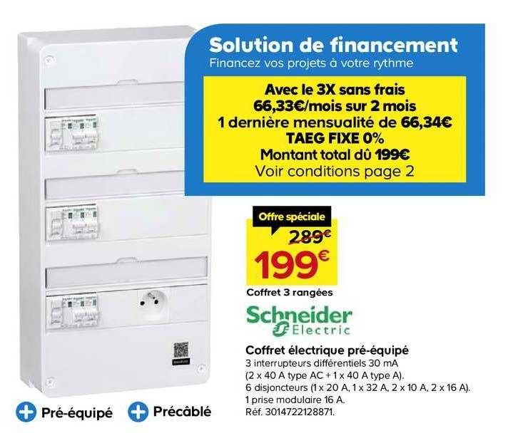 Offre Va Et Vient Schneider Electric Chez Brico Depot