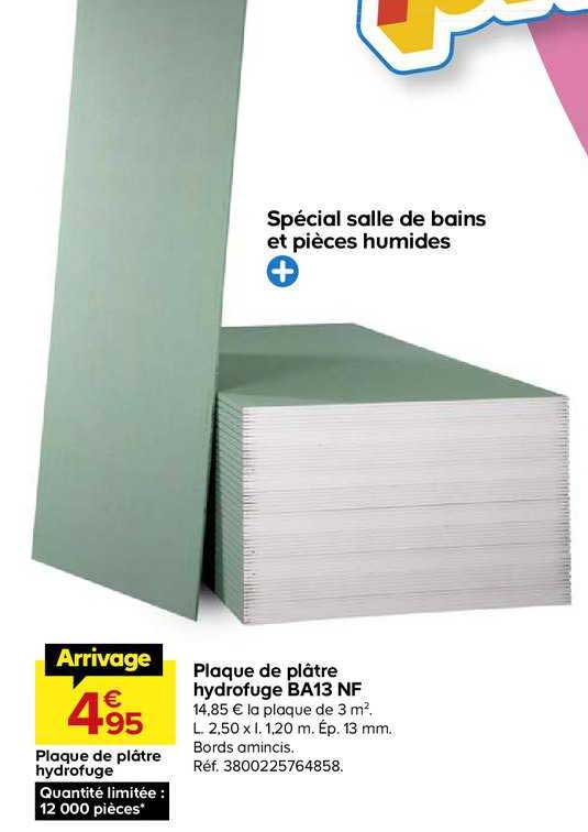 Offre Plaque De Platre Hydrofuge Ba13 Nf Chez Castorama