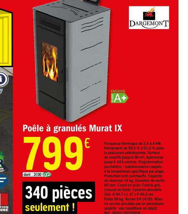 Offre Poele A Granules Murat Ix Chez Brico Depot