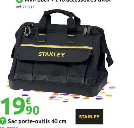 Offre Sac Porte Outils 40 Cm Stanley Chez Mr Bricolage