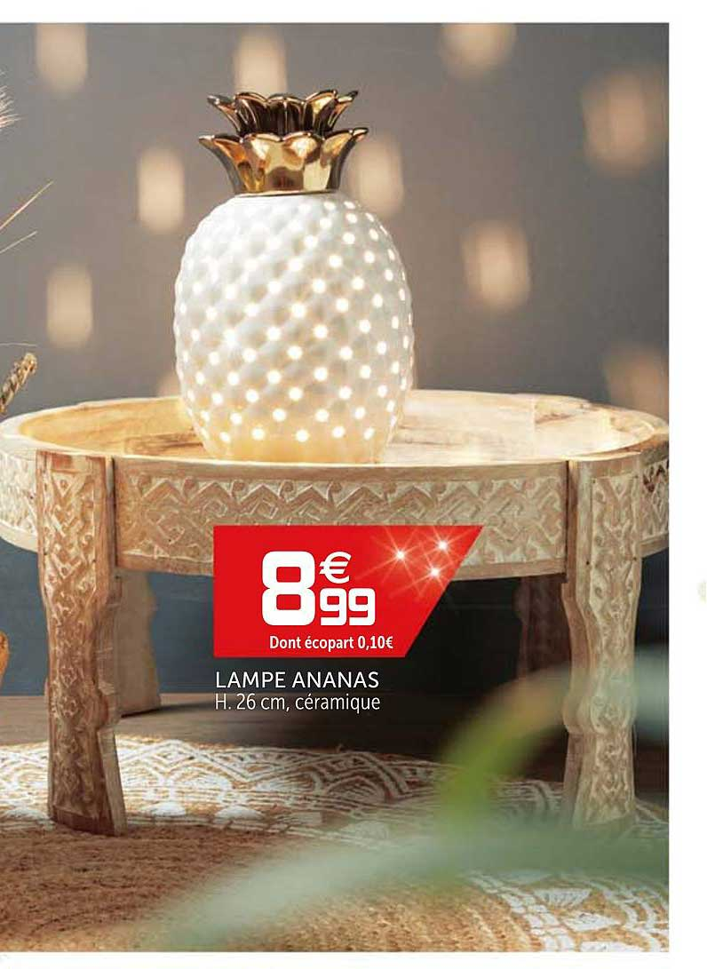 Offre Lampe Ananas Chez Gifi