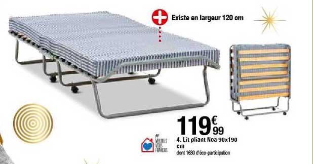 Offre Lit Pliant Noa 90x190 Cm Chez But