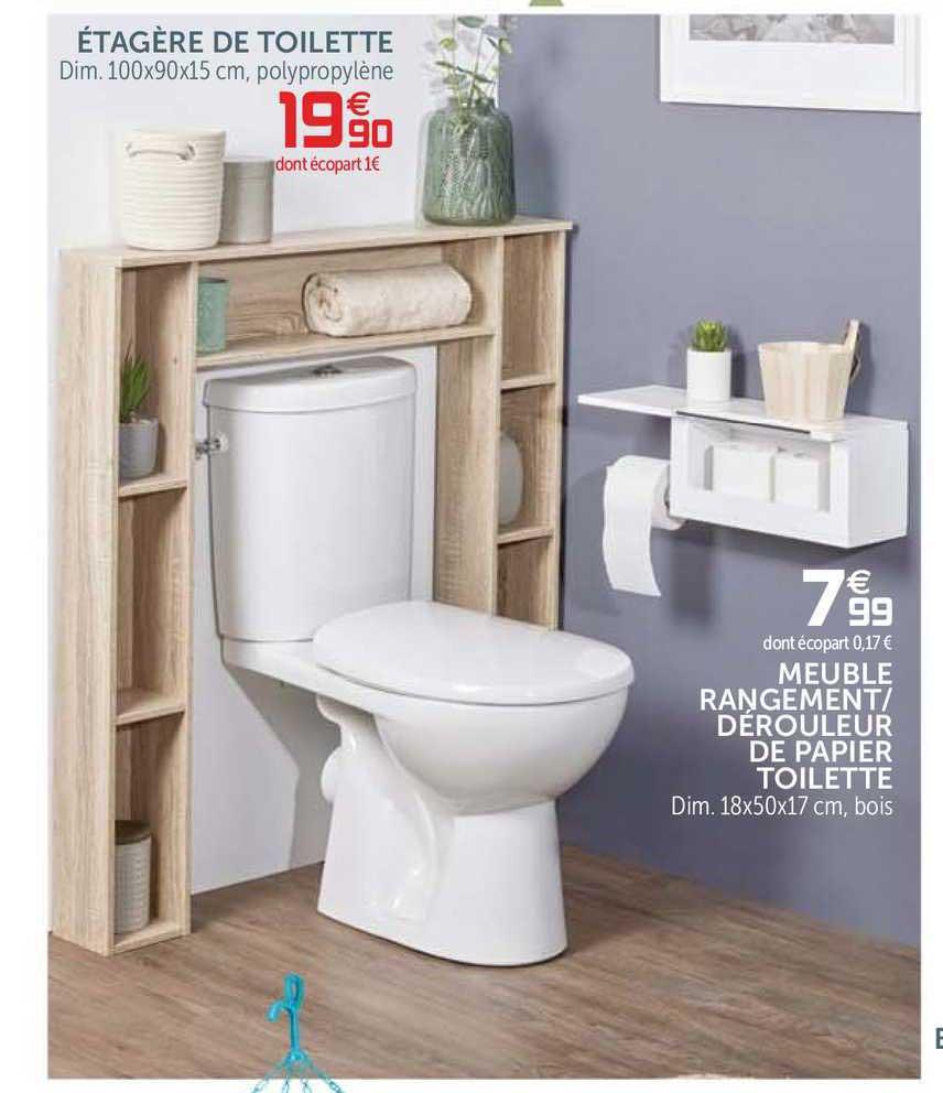 de toilette meuble rangement
