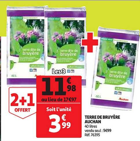 Offre Terre De Bruyere Auchan Chez Auchan Direct